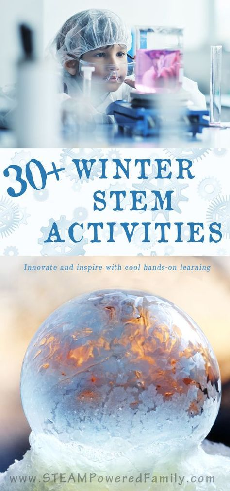 Celebrate snow and cold with these winter STEM activities. Hands-on learning that embraces science, technology, engineering and math. via @STEAM Powered Family | Education, Activities & Mental Health