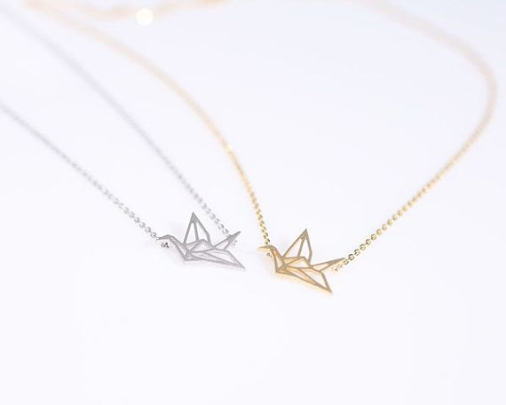 Hey, I found this really awesome Etsy listing at https://www.etsy.com/listing/157569870/origami-crane-necklace-choose-your-color