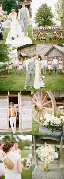 Country Chic Wedding Ideas...I just want an open back dress, why can't that be considered modest!?