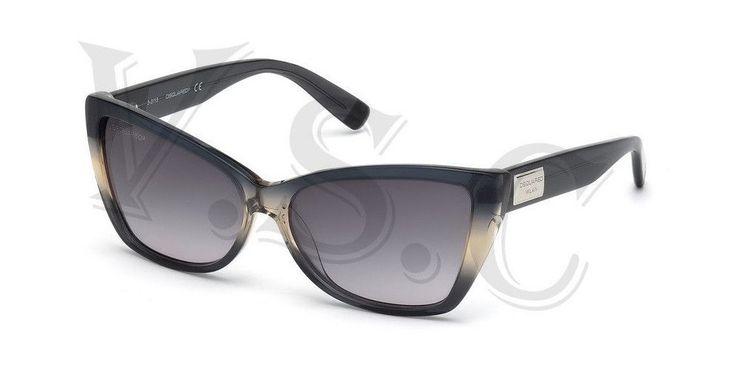 Dsquared Dq0129 Sunglasses Dq 129 Authentic Cat Eye Glasses Retro 20b Grey New. DSQUARED DQ0129 20B. DSQUARED DQ0129 20B GREY. DSQUARED SUNGLASSES.