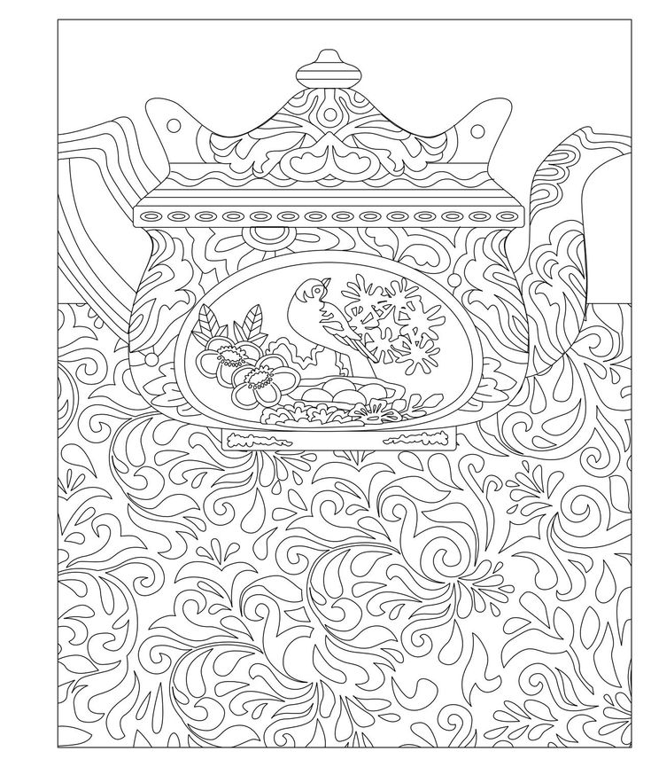 724 best images about adult colouring coffee tea cakes for Tea party coloring page