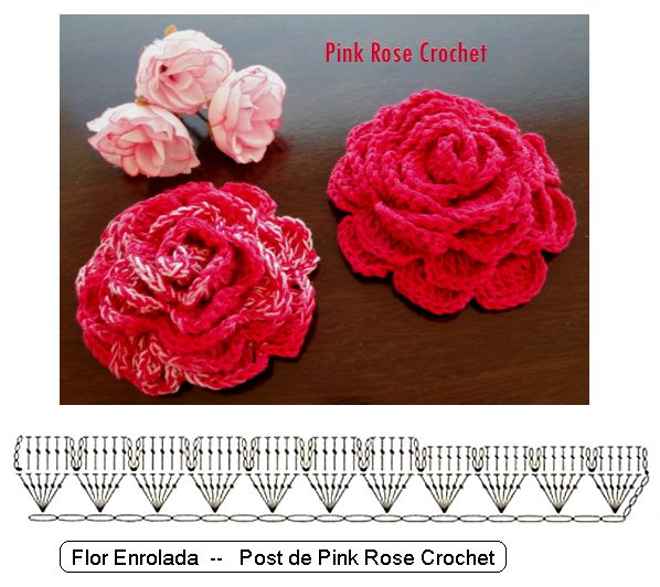 Flor+de+Croche+Rosa+Enrolada+Crochet+Rose+Flower+GRafico.png (598×532)