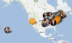 EXHIBIT rende la visualizzazione dei dati un gioco da ragazzi! Sviluppato da MIT, e completamente open-source, rende facile creare mappe interattive, e altre visualizzazioni in base ai dati che sono orientati verso l'insegnamento o storici set di dati statici / base, come ad esempio le bandiere appuntate a paesi o luoghi di nascita di personaggi famosi.