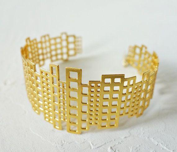 Manhattan Bracelet Architectural jewelry urban by shlomitofir