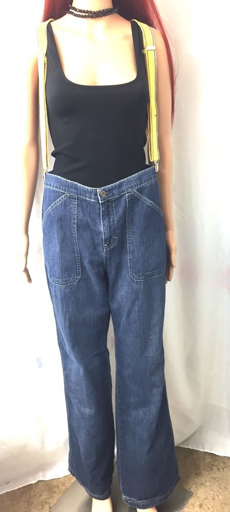 Tommy Hilfiger Straight Cut Jeans Rect Patch Front Pockets Womens Size 10  | eBay