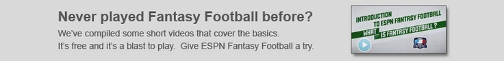New to Fantasy Football? ESPN's Matthew Berry takes you through the basics in these short videos