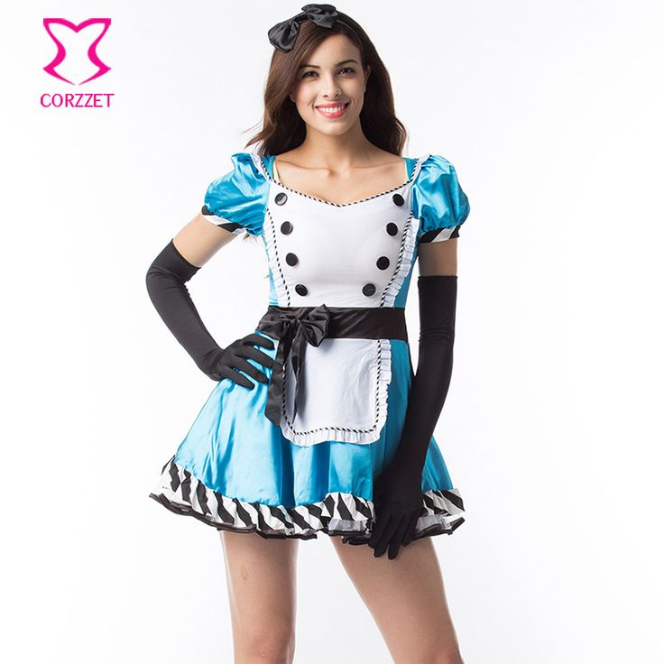 Role Playing Games Clubwear Fairy Tale Alice In Wonderland Costume Sexy Adult Halloween Costumes For Women Plus Size Fancy Dress #Plus Size Halloween Costumes 5x