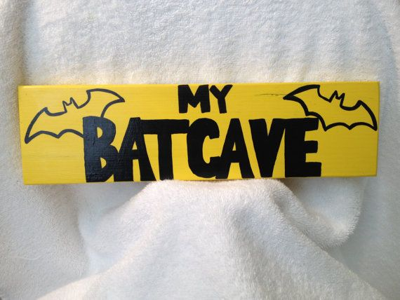 Free Batman Comic Book Included with purchase of Wooden Plaque for Room Decor on Etsy, $5.00