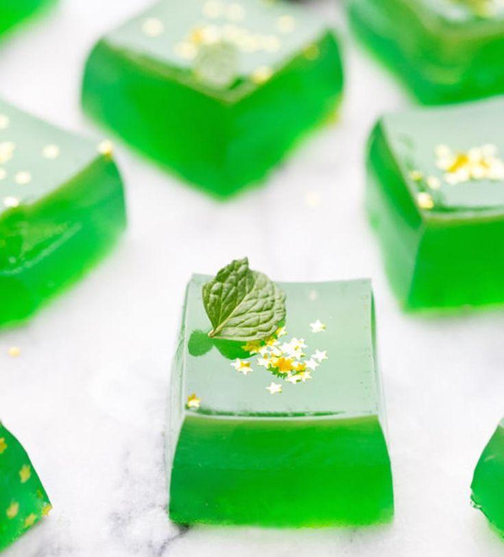cubes de gelée vertes