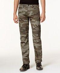 True Religion Men's Geno Slim-Fit Camo-Print Moto Jeans