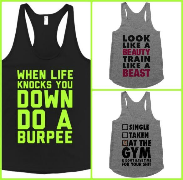 These tanks from Activate Apparel are LOL-worthy and super comfy. We just love a good fitness joke!