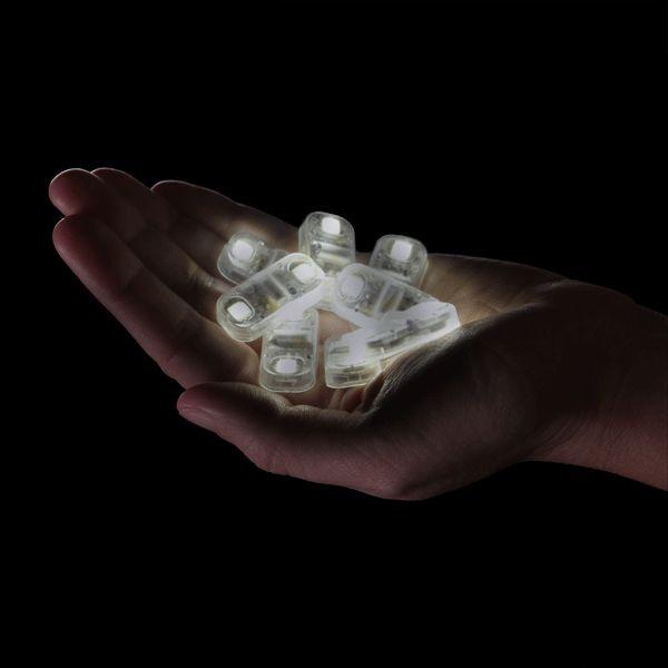 Quantum Bits, tiny super-bright LEDs that light up in response to vibration