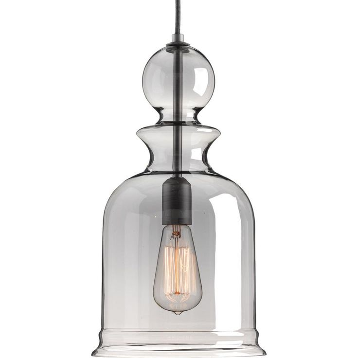 Progress Lighting Staunton Collection 1-Light Graphite Pendant-P5333-143 - The Home Depot