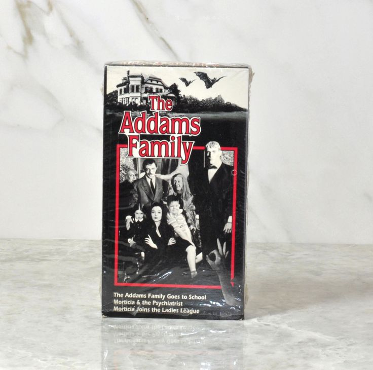 Vintage VHS Tape The Addams Family Original 1964 TV Series Episodes Black And White, Carloyn Jones, John Astin, Jackie Coogan, Ted Cassidy by winterparkcollect on Etsy