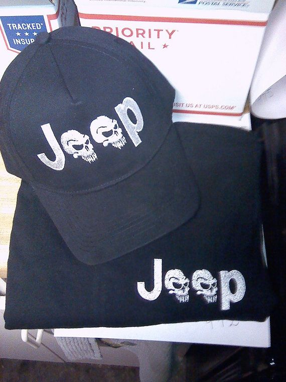 SAVE with a COMBO    Custom Embroidered  HaT & Tee by jeeplady2012 - UNIQUE GIFT - Click on Pix to Purchase
