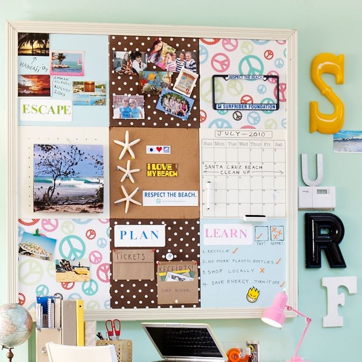 167 best images about pb teen on pinterest vanities pb for Diy bulletin board for bedroom