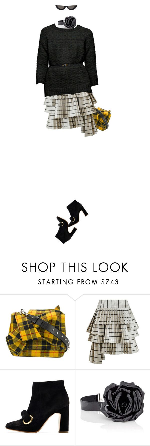 """""""Sem título #2262"""" by land ❤ liked on Polyvore featuring N°21, Zimmermann, Rupert Sanderson, Yves Saint Laurent, Rachel Comey and PAWAKA"""
