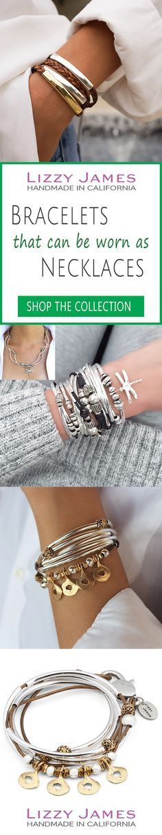 """Great Holiday Gift Ideas! FREE Shipping plus 15% OFF for all 1st time buyers, let Lizzy James Jewelry help you Fall into Style this Season! Featuring leather & cotton cord wrap bracelets that can also be worn as necklaces, our designs fit all wrist sizes from petite to plus size. Proud to be made in the USA! <a class=""""pintag searchlink"""" data-query=""""%23lizzyjames"""" data-type=""""hashtag"""" href=""""/search/?q=%23lizzyjames&rs=hashtag"""" rel=""""nofollo..."""
