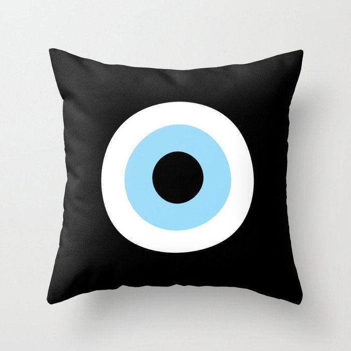 Black Evil Eye Pillow