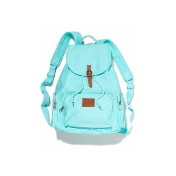 Victorias Secret VS Backpack BLUE Tiffany MINT Green Light Blue Full... ❤ liked on Polyvore featuring bags, backpacks, mint blue backpack, day pack backpack, victoria secret bag, mint backpack and knapsack bag