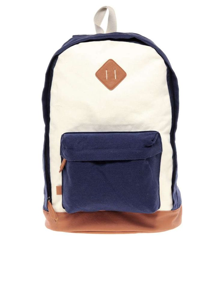 ASOS Contrast Canvas Backpack | mens backpack | mens style | mens fashion | wantering http://www.wantering.com/mens-clothing-item/asos-contrast-canvas-backpack/aayvj/