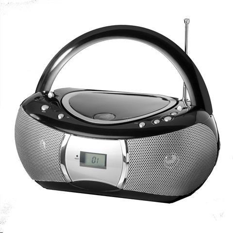 cd Boombox W/aux In Blk audiosonic Pcd-6206i