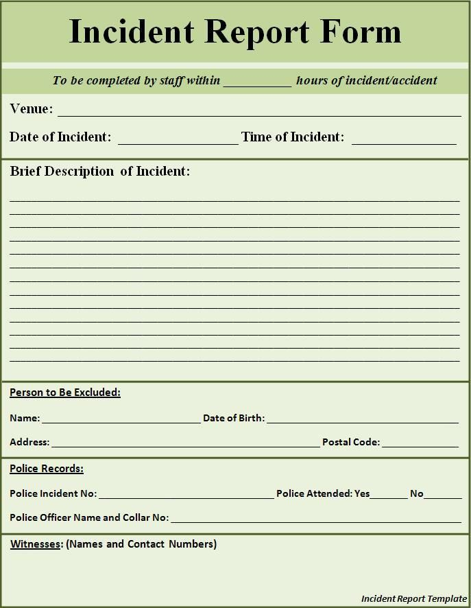 Injury Incident Report Template Amazing Patrica Holmes Butler Patricaholmesbutler On Pinterest