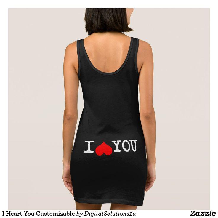 I Heart You Customizable Sleeveless Dress