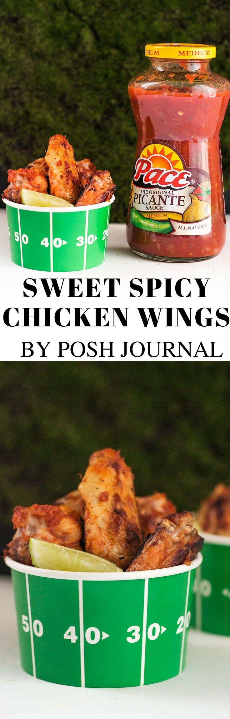 Sweet Spicy Chicken Wings - Best Gameday Food - Posh Journal  #KickUpTheFlavor #CollectiveBias #ad