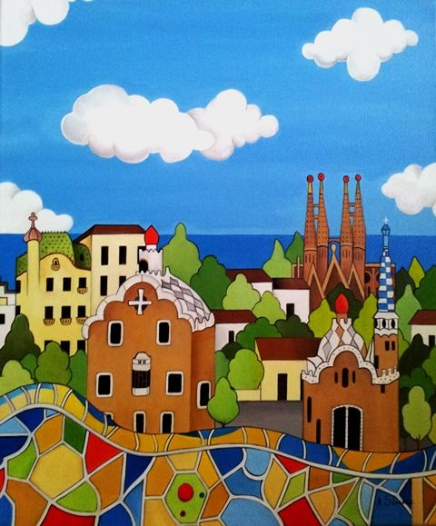 Barcelona Óleo sobre lienzo