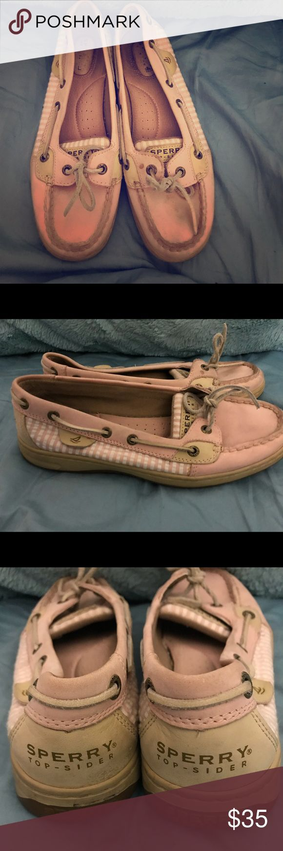 Pink Sperry's Pink Sperry's. Have some scuff marks as seen in the pictures but still in good condition. Make me an offer! Sperry Top-Sider Shoes
