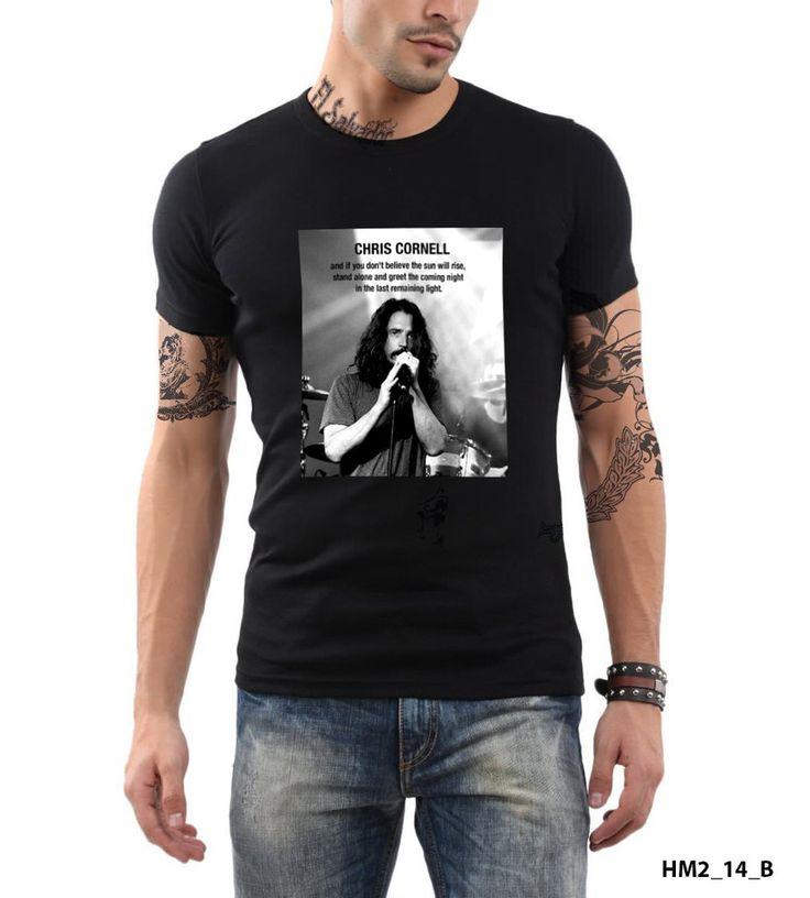 Chris Cornell Soundgarden Audioslave American Rock Band T-shirt Slim Fit 100% Cotton