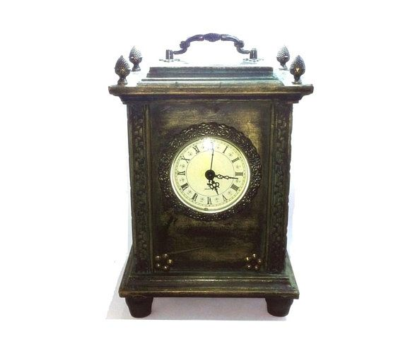 Rustic Wood Mantel Shabby Chic Clock Shabby Chic Clock Wood Mantels Rustic Wood