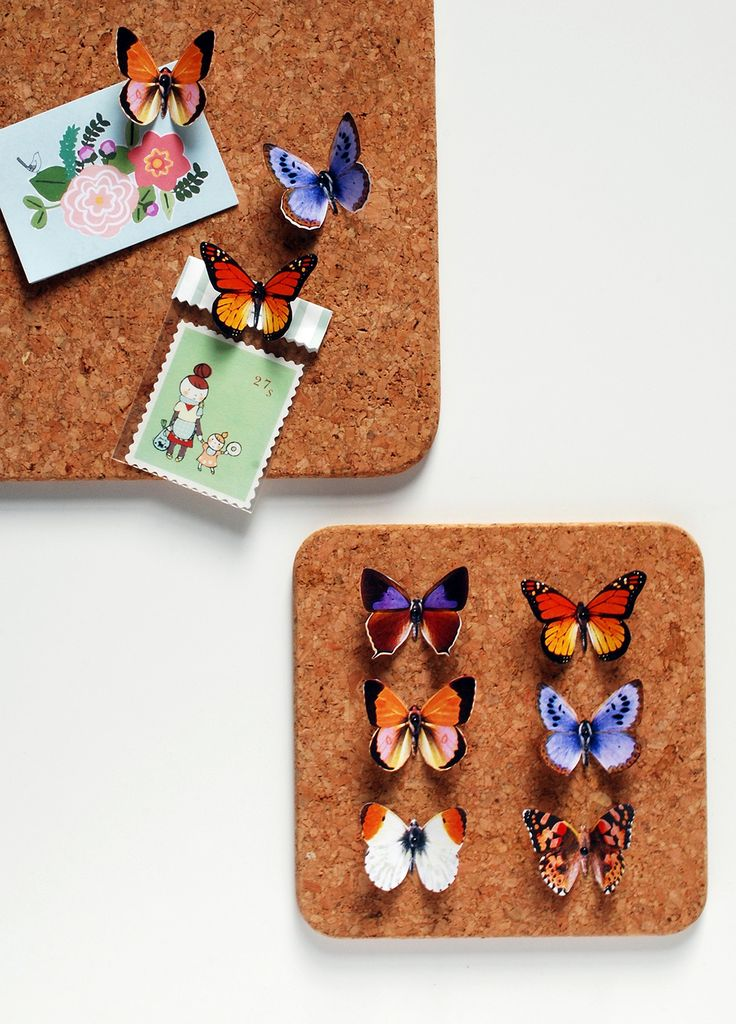 DIY Butterfly push pins with a