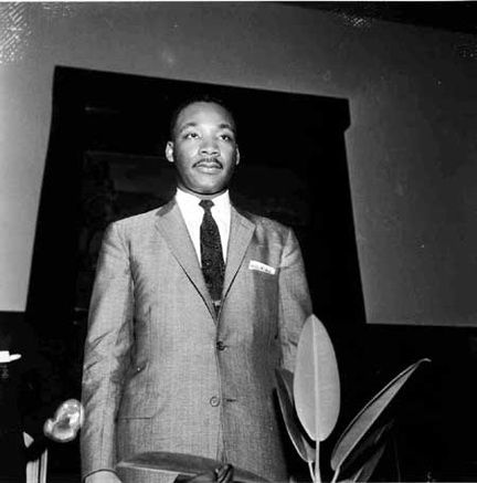 Martin Luther King Jr. at the Metropolitan Baptist Church, Memphis, TN, 1956 | Ernest Withers | http://www.rebekahjacobgallery.com