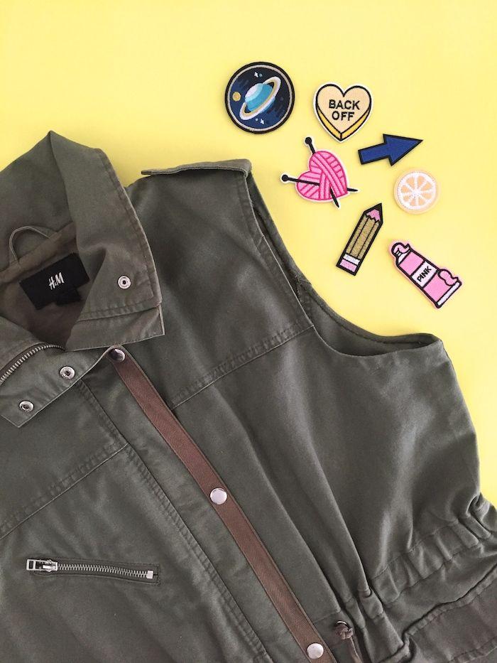 Yellow Pillows Deco: Customiza tu chaqueta con parches - Customize your...