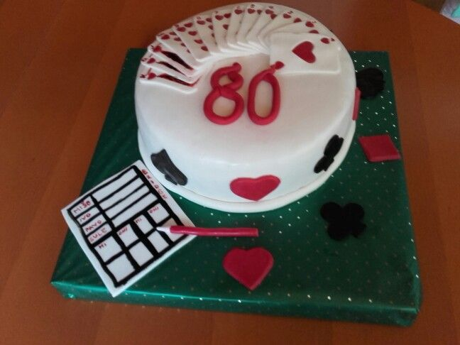 Bridge cards game cake