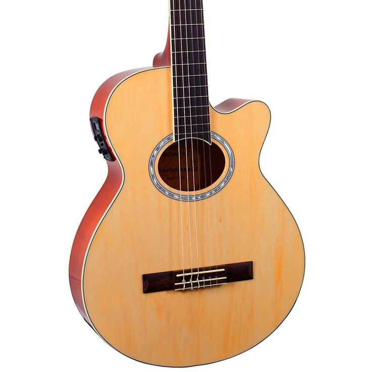 Giannini GNF-1R CEQ Mini Jumbo Nylon Acoustic-Electric Guitar Natural