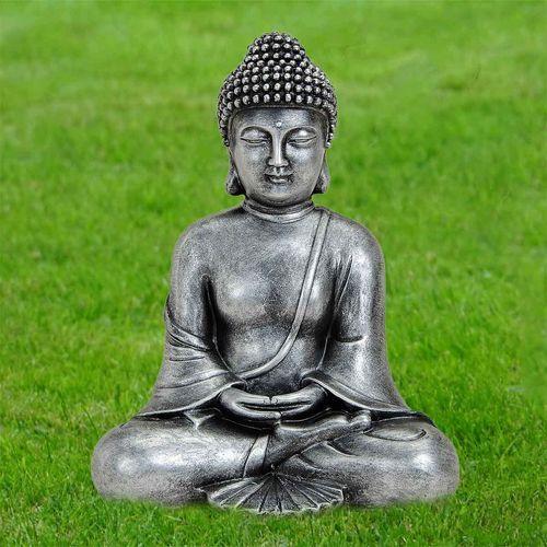 Thai Buddha meditieren rot gold Dekofigur Figur Höhe ca 25 cm
