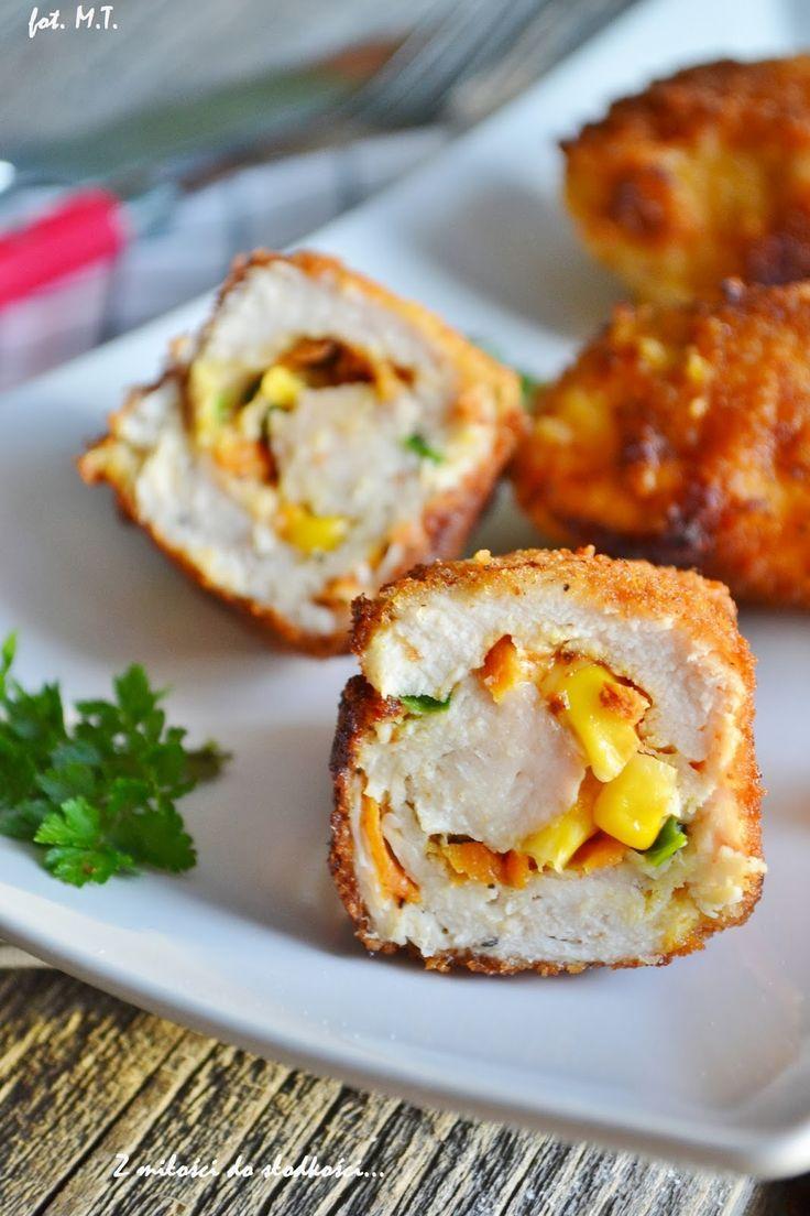 Roladki z kurczaka nadziewane warzywami