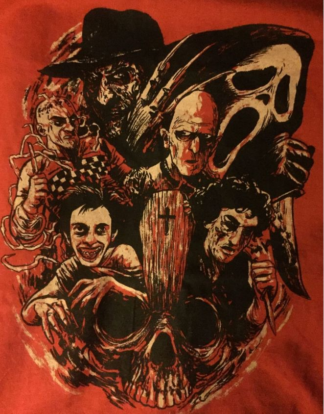 "horrorshirts: "" Tribute to Wes Craven • The Last House on the Left (1972) • A Nightmare on Elm Street (1984) • The Serpent and the Rainbow (1988) • Shocker (1989) • The People Under the Stairs (1991) • Scream (1996) """
