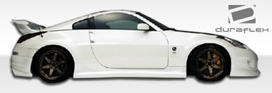 Want to make your 350Z stand out above the rest? Then check out our 2003-2008 Nissan 350Z Spirit Duraflex Side Skirts. SKU: 100504, For more info contact us at 714.614.6087 M-F 10AM-5PM (PST)! Mention this post when you order to get special pricing! #nissan #nissan350z #350z #bodykit