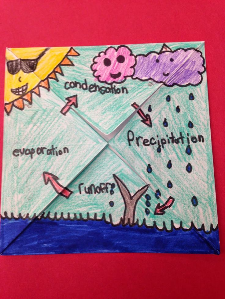 One Teacher's Adventures: Water Cycle Foldable