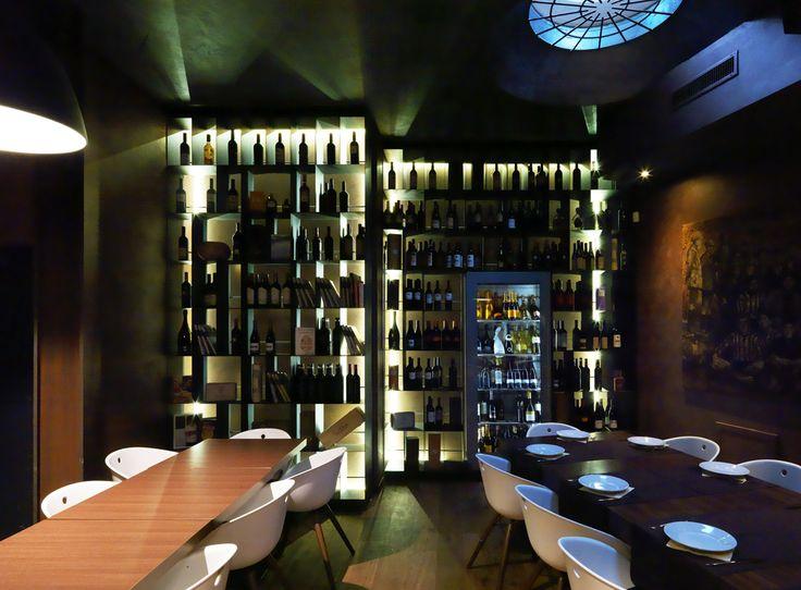 Design d'interni e arredamento del ristorante 6900 a Lugano.