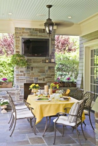 ♥ everything: Covers Patio, Outdoor Rooms, Outdoor Living, Outdoor Patio, Back Porches, Traditional Porches, Outdoor Fireplaces, Outdoor Spaces, Dreams Patio