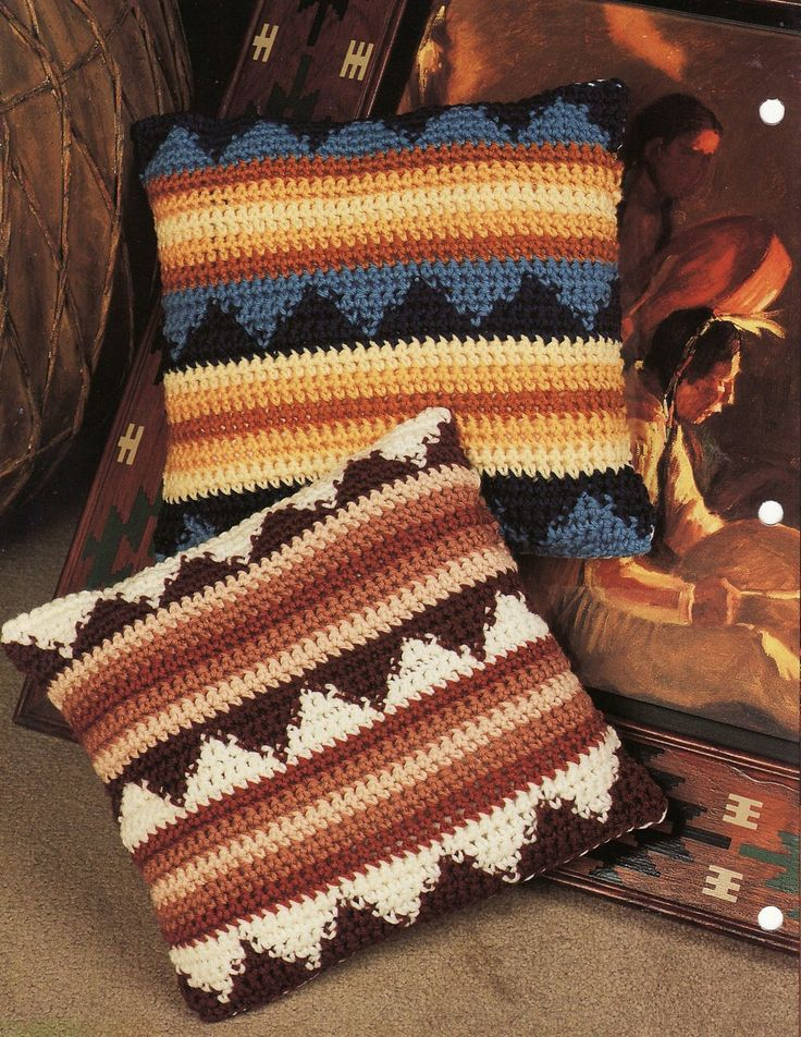 Crochet Pattern Southwestern Afghan : southwestern crochet pillow Crochet Pillows,Cushions ...