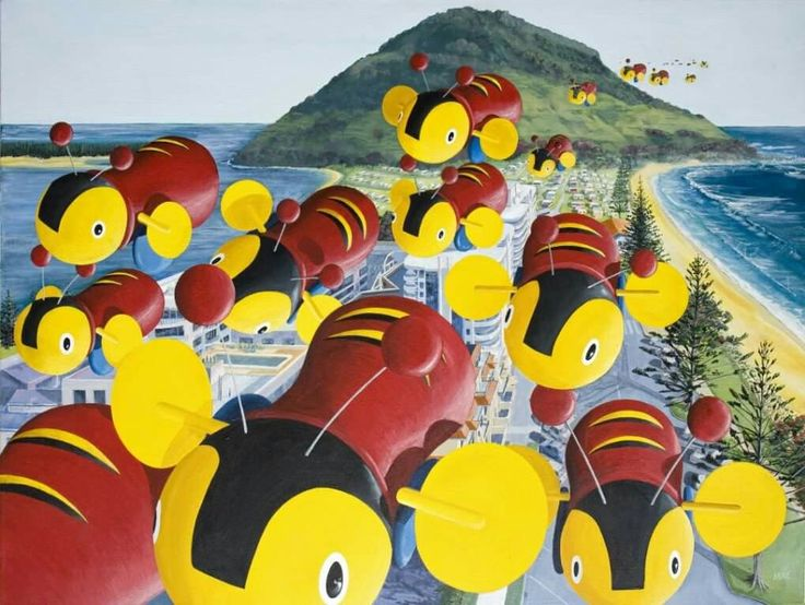 Buzzy bees Mt Maunganui Art