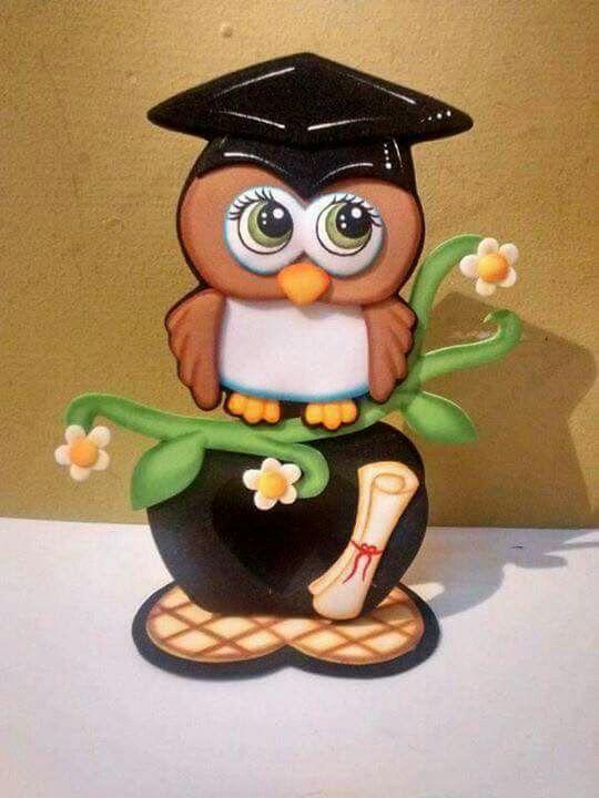 b9eb8dc099b Porta búho buhos de graduacion buhos en goma eva buho graduado princesas  jpg 540x720 Goma eva