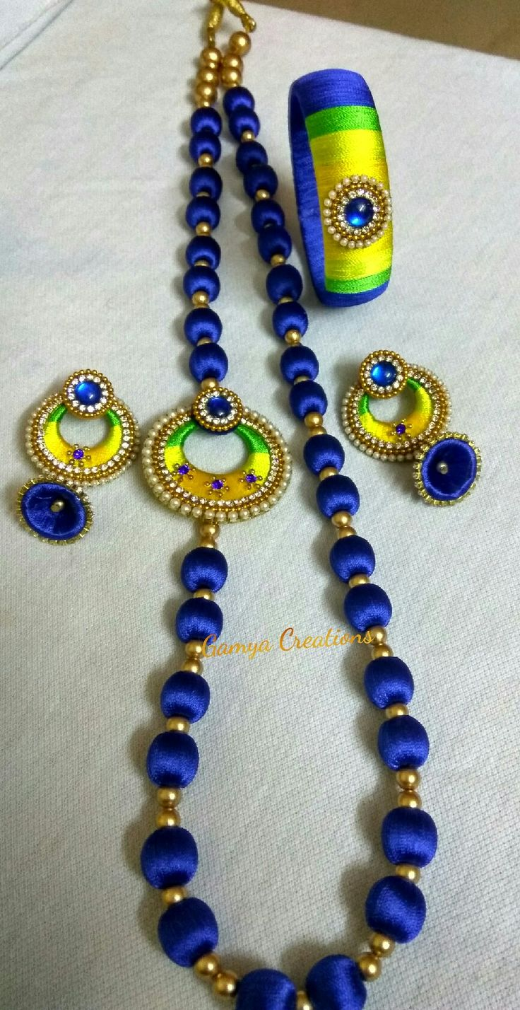 Silkthread mogappu set at Gamya Creations