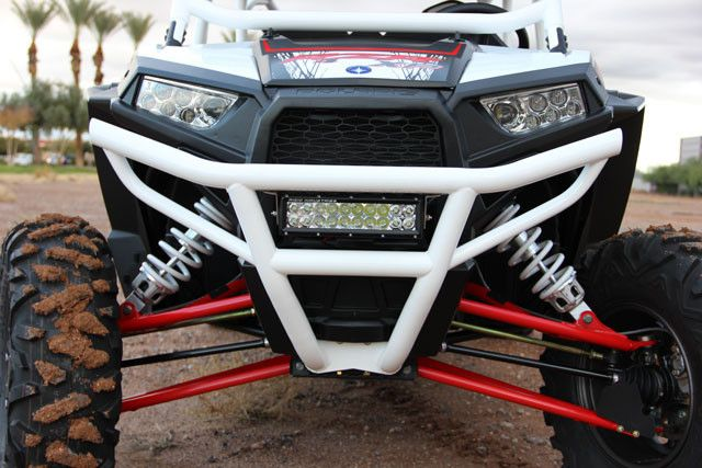 Protect your RZR XP 1000 or RZR XP 4 1000 with our newest and most innovative Polaris RZR XP 1000 Ultra-Light Front Bumper. What better way to protect the front end of your Polaris RZR than by adding